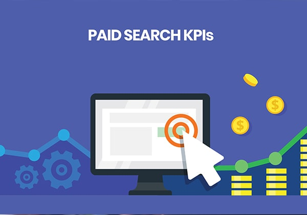 Paid search Key Performance indicators infographic