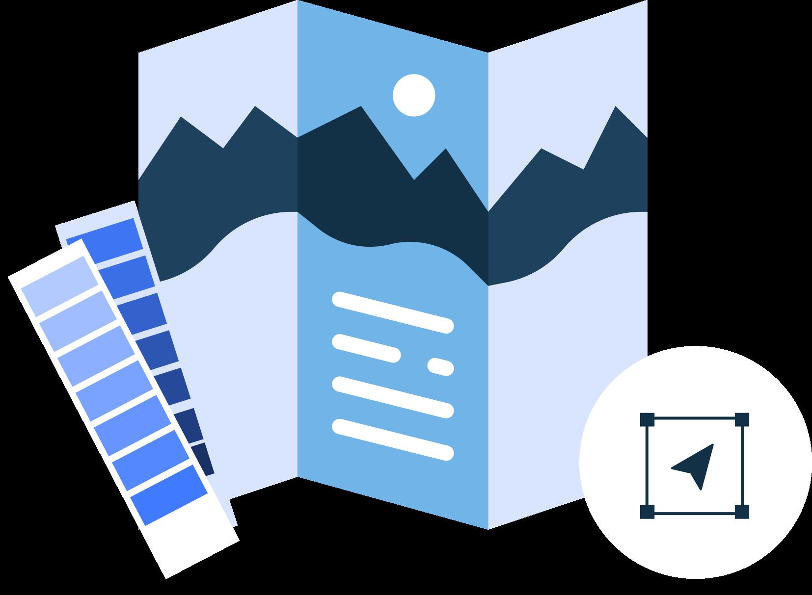 Print design graphic for design services